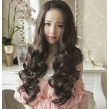 Long Wave Curly Natural Half Wigs 3 Colors