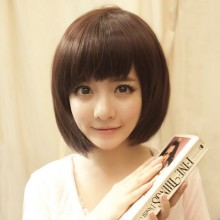 Girls Face Slim Straight Bob Natural Wig 3 Colors