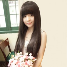 Fluffy Long Straight Natural Wig 3 Colors