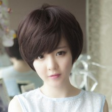 Short Curly Fluffy Breathable Natural Wig