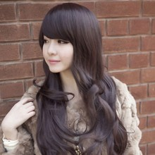 Long Curly Big Wave Fashion Natural Wig 3 Colors