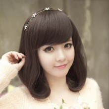 Short Fluffy Pear Head Cute Natural Wig 2 Colors