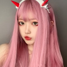 Long Straight Hair Lolita Daily Color Natural Wig 3 Colors