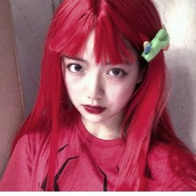 Long Straight Red Lolita Wigs