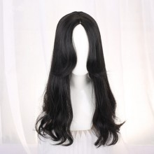 Long Straight Cute Micro-Volume  Black Natural Wigs