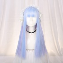 Long Straight Light Blue Sweet Lolita Wigs