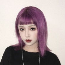 Long Straight Sweet Purple Lolita Wigs 2 Colors