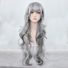 "Long Volume ""Tomorrow's Ark"" Gray-White Lolita Wigs"