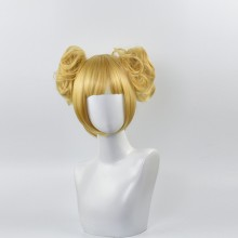 Short Gold Double Horsetail Cosplay Wigs
