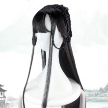 Long Straight Black Chinese Style Cosplay Wigs
