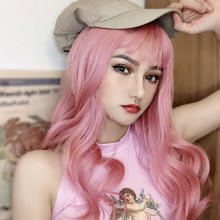 Long Wavy Pink Fashion Sweet Lolita Wigs