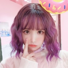 Short Roll Fashion Purple Cute Lolita Wigs