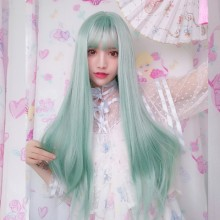 Long Straight Fashion Green Lolita Wigs