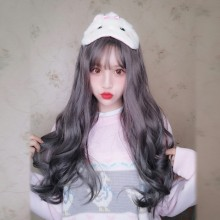 Long Roll Fashion Gray Sweet Lolita Wigs
