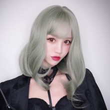 Long Roll Fashion Light Green Temperament Lolita Wigs