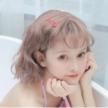 Short Curly Fashion Cute Gray Gold Sweet Lolita Wigs