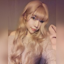Long Curly Big Wave Fashion Temperament Golden Sweet Lolita Wigs