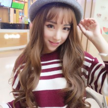 Long Curl Wave Fashion Light Brown Sweet Lolita Wigs