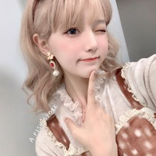 Short Curly Fashion Cute Golden Sweet  Lolita Wigs