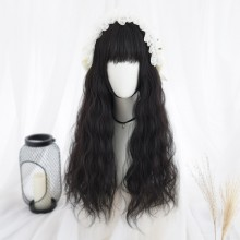 Long Curly Popular Wavy Black Sweet Lolita Wigs