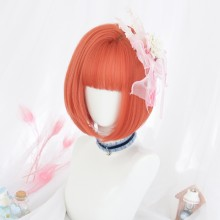 Straight Short Fashion Orange Sweet Lolita Bob Wigs