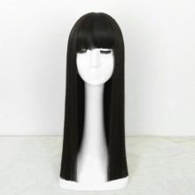 Long Straight Fashion Black Natural Wigs