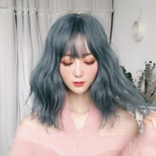 Short Curly Fashion Light Blue Lolita Wigs