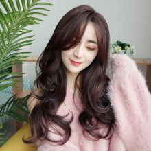 Long Curly Wavy Fashion Brown Natural Wigs